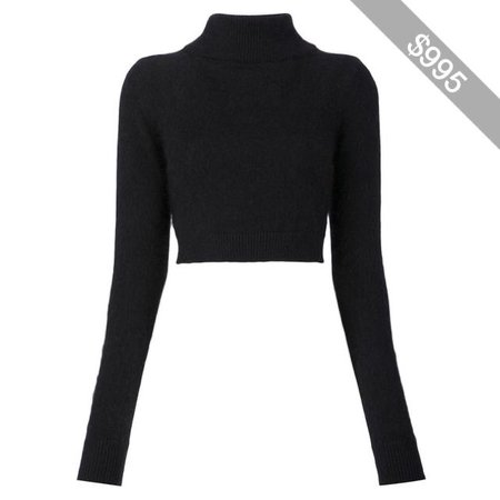 Balmain cropped turtleneck sweater