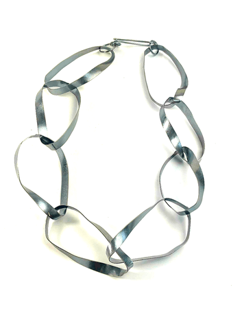 Sterling Silver Mobius Strip Statement Necklace - Black Patina – Candace Stribling Jewelry