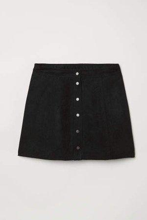 H&M+ A-line Skirt - Black
