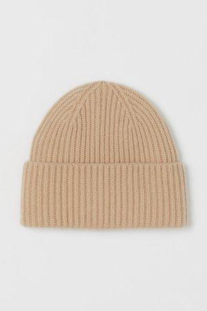 Cashmere-blend Hat - Beige