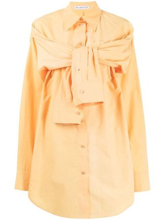 Shop yellow Rejina Pyo Leah double sleeve-detail shirt with Express Delivery - Farfetch