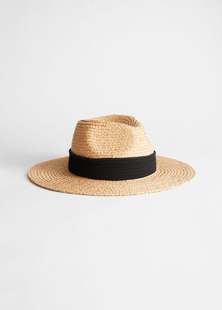 Ribbon Brim Woven Straw Hat - Natural Straw - Hats - & Other Stories