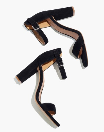 The Brooke Ankle-Strap Sandal in Suede