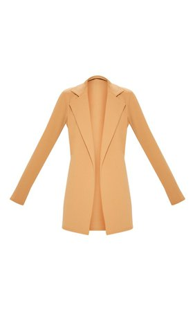 Nude Longline Blazer | Coats & Jackets | PrettyLittleThing USA