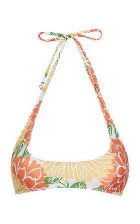 Fonda Mariposa Floral Print Bikini Top By Faithfull The Brand   Moda Operandi