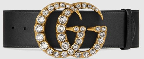diamond face chunky Gucci belt