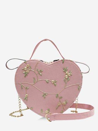 [Moricore Blog] Heart Shape Embroidery Floral Crossbody Bag | Rosegal