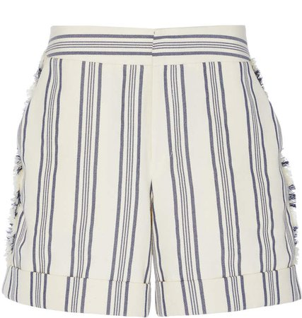 Striped Cotton-Blend Shorts