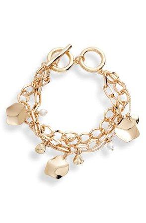 Halogen® Double Chain Charm Bracelet | Nordstrom