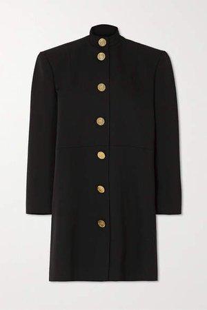 Oversized Wool Mini Dress - Black