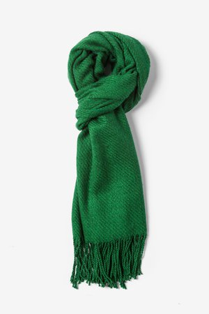 Choose green scarf which is Eco –Friendly – StyleSkier.com