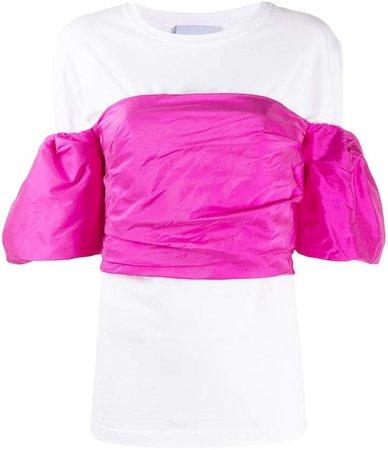 Layered Ruffled-Sleeves Top