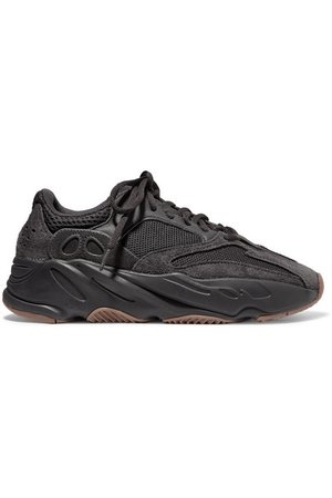 adidas Originals | Yeezy Boost 700 mesh and suede sneakers | NET-A-PORTER.COM