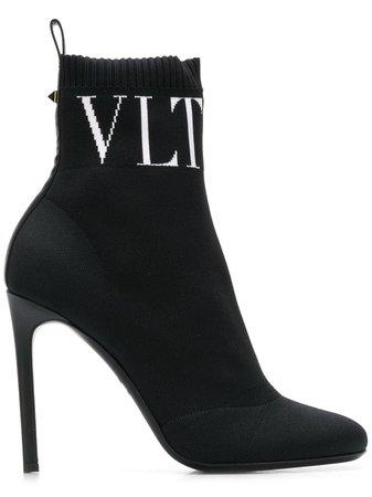 Valentino Valentino Garavani VLTN Ankle Boots - Farfetch