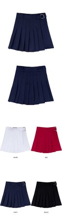 HIDEPleated Wrap Panel Skort | mixxmix | OFFICIAL ENGLISH WEBSITE