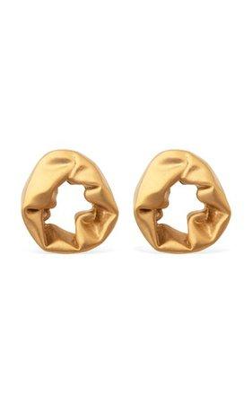 Scrunch Gold Vermeil Earrings By Completedworks | Moda Operandi