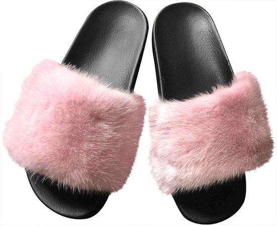 Pink Mink Sandals