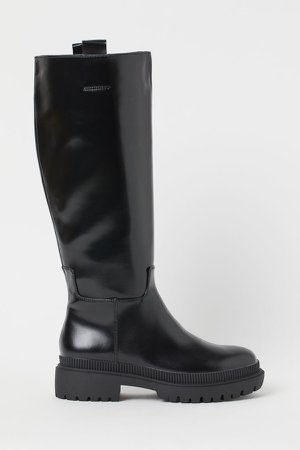Chunky-soled Boots - Black