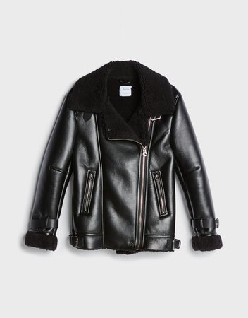 Faux shearling coat - New - Woman | Bershka