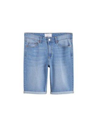 Violeta BY MANGO Light denim bermuda shorts