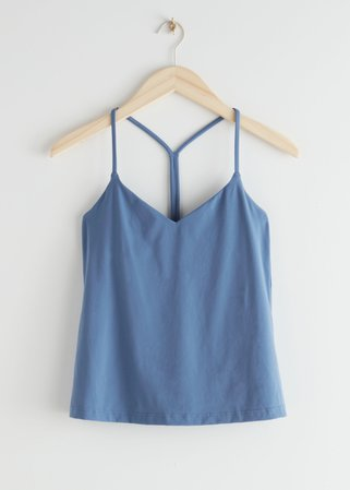 Yoga Top - Blue - Tanktops & Camisoles - & Other Stories