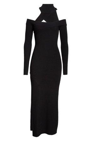 Monse Off the Shoulder Turtleneck Wool Blend Sweater Dress | Nordstrom