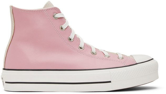 Pink and Beige Chuck Taylor All Star Lift Sneakers