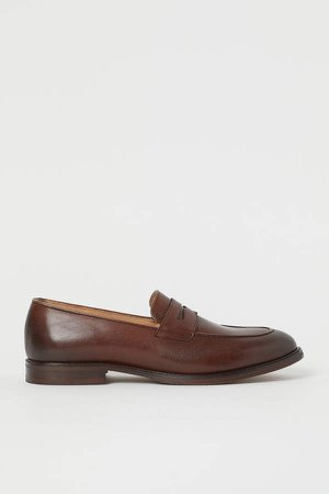 Leather Loafers - Orange