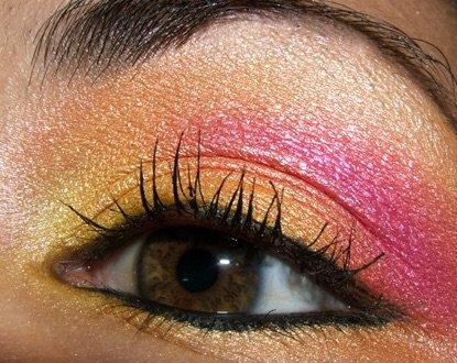 Yellow Pink Eyeshadow