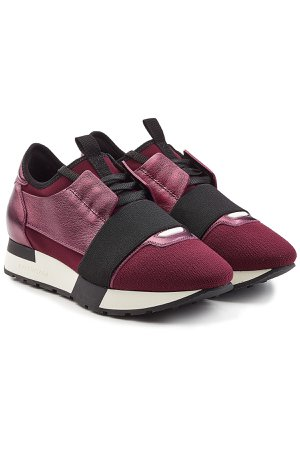 Race Runner Sneakers with Metallic Leather, Mesh and Suede Gr. IT 41