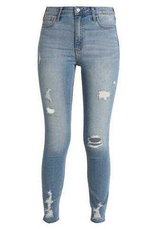 Hollister Co. Jeans Skinny Fit - ripped medium - Zalando.co.uk