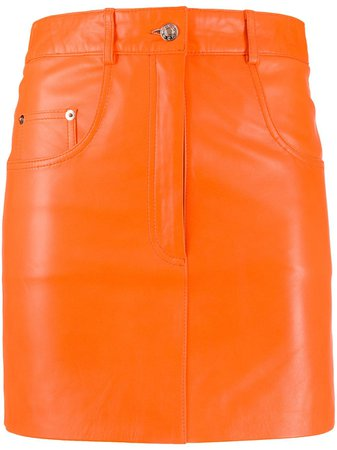 Manokhi Leather Mini Skirt - Farfetch
