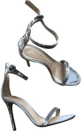 Portofino Silver Leather Sandals