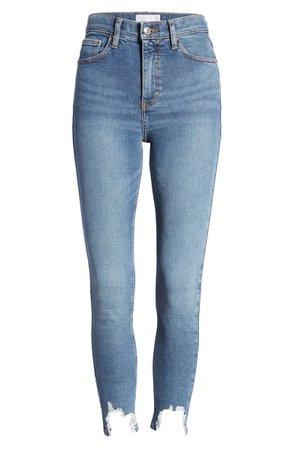 Topshop Jamie Jagged Hem Jeans (Regular & Petite)   Nordstrom