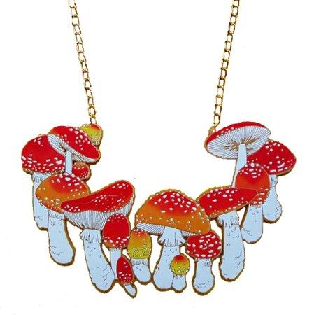 Misfit Makes Mushroom Necklace