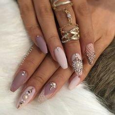 Princess nails   Stiletto Nails   Pinterest   Nail nail, Makeup and Dope nails