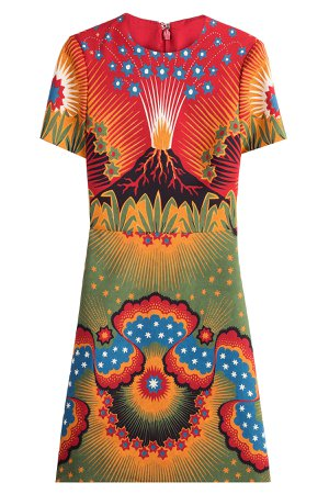 Volcano Virgin Wool Dress with Silk Gr. IT 44