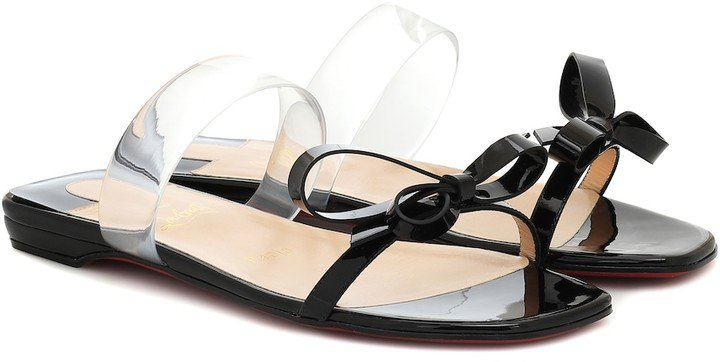 Just Nodo patent-leather sandals