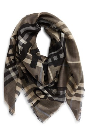 Burberry Horseferry Print Check Wool & Silk Scarf | Nordstrom