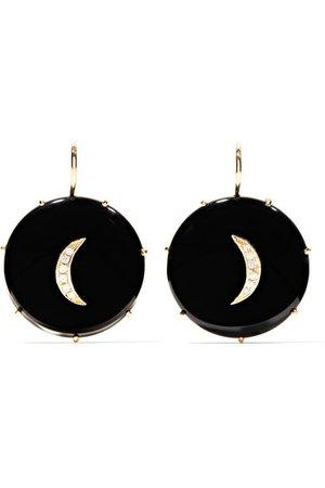 Andrea Fohrman | onyx and diamond earrings