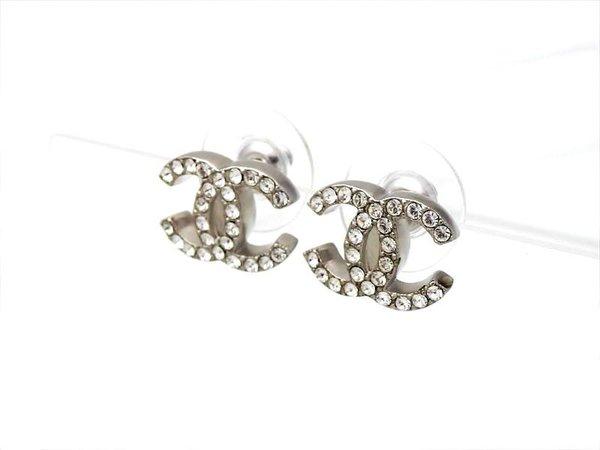 chanel earrings silver - Google Search