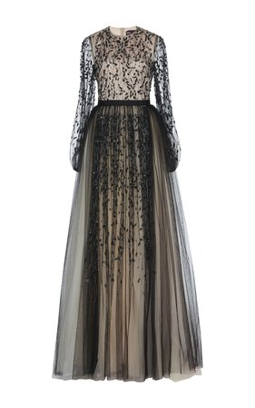 Tulle Embroidered Gown by Bibhu Mohapatra   Moda Operandi