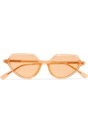 Dries Van Noten   + Linda Farrow cat-eye acetate sunglasses   NET-A-PORTER.COM