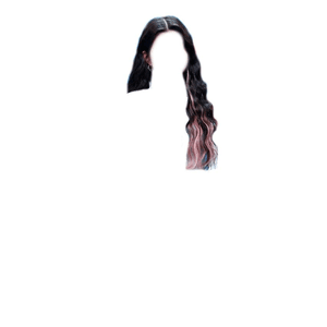 Dark Brown Hair PNG PINK TIPS