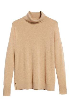 Halogen® Cashmere Turtleneck Sweater (Regular & Petite) | Nordstrom