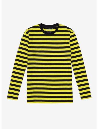 Yellow & Black Stripe Long-Sleeve T-Shirt