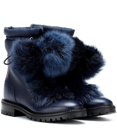 Glacie Leather And Fur Boots - Jimmy Choo | mytheresa