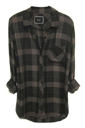 Black Plaid Flannel Shirt