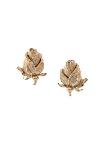 Susan Caplan Vintage 1970s Floral Earrings - Farfetch
