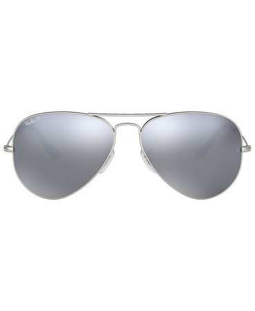 Ray-Ban Polarized Sunglasses , RB3025 AVIATOR MIRROR & Reviews - Sunglasses by Sunglass Hut - Handbags & Accessories - Macy's